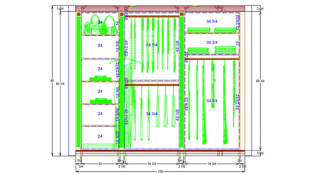 Fig. 1 Example of Closet CAD Drawing