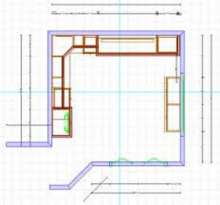 Fig. 1 Example of Murphy Bed & Home Office CAD Drawing