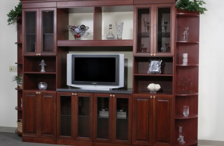 Custom wood entertainment center - Jacksonville, FL