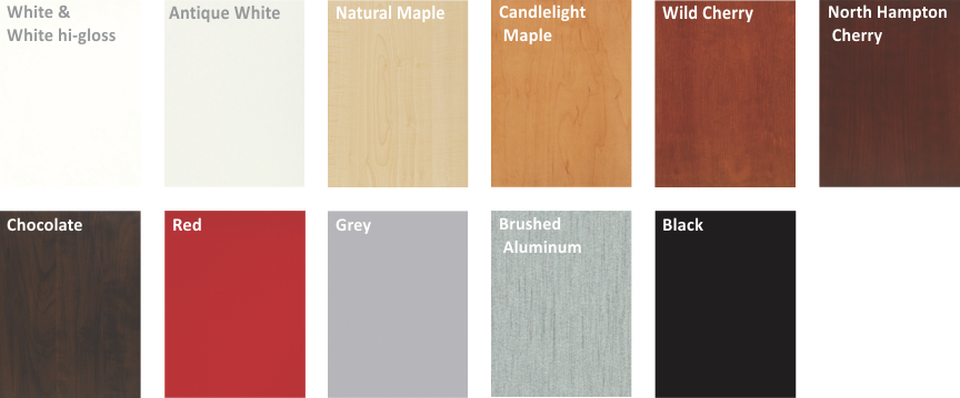 Custom cabinet laminate finishes