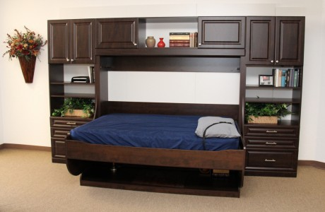 Jacksonville desk bed in dark wood