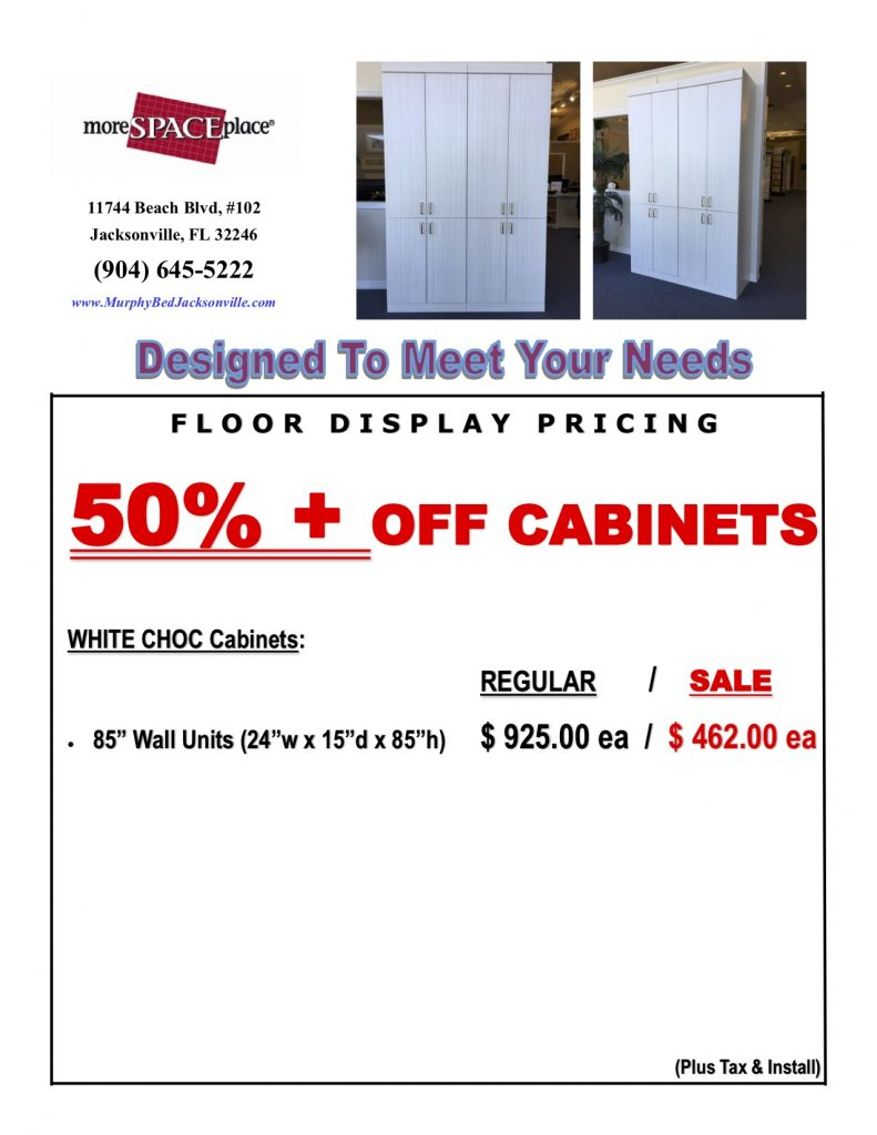 More Space Place Jacksonville Cabinet Sale