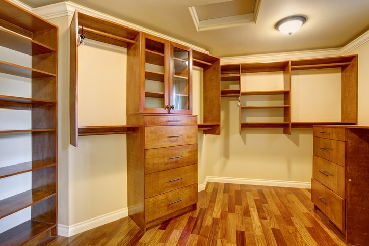 Wall-mounted closet system in Denver CO