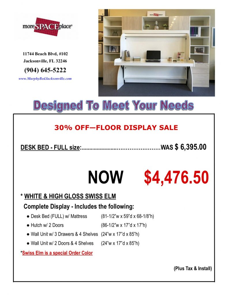 Custom Desk Bed Sale Jacksonville