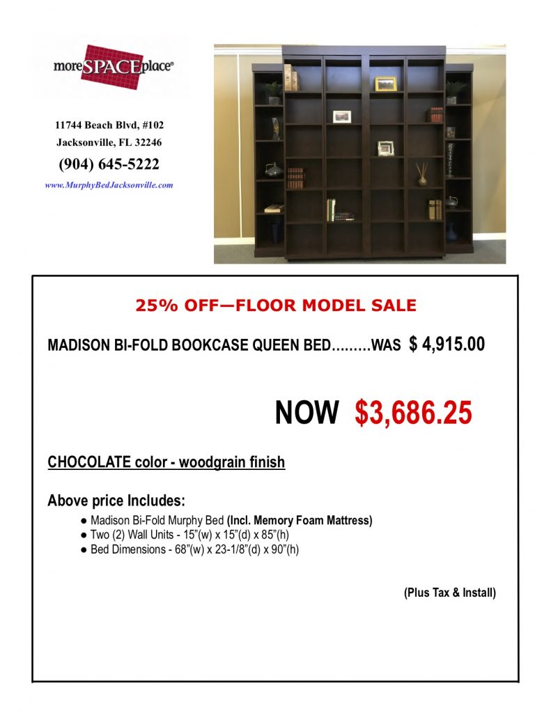 Madison Bookcase Bed Sale Jacksonville