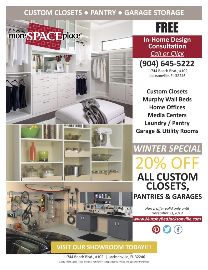 More Space Place Jacksonville custom storage systems sale