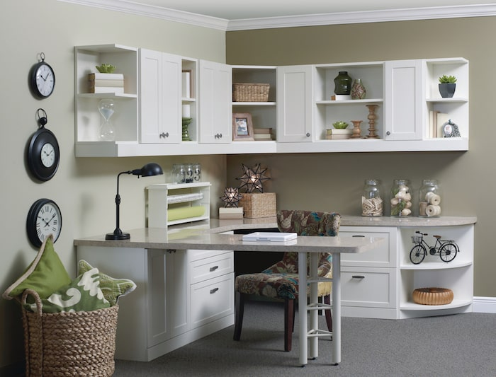 Organized Custom-built Home Office - More Space Place Jacksonville